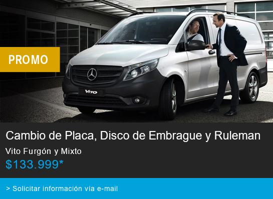 Postventa Promo Cambio de Placa, Disco de Embrague y Ruleman Vito Furgon y Mixto