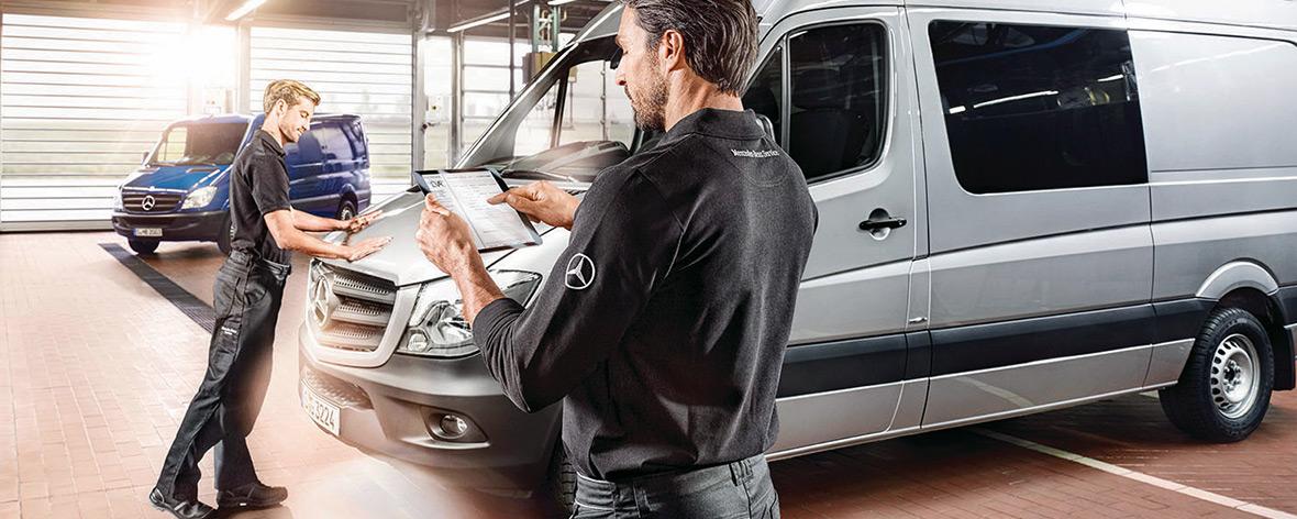Chapa y Pintura Vans Mercedes-Benz